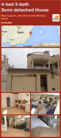 4-bed 3-bath Semi-detached House in Blue Lagoon, Alicante (Costa Blanca), Spain ►€149,000 #PropertyForSaleInSpain