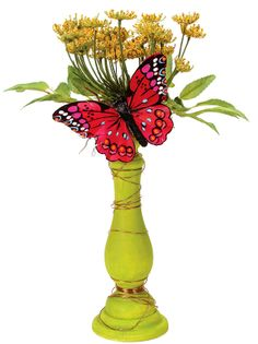 Nicole™ Crafts Butterfly Candlestick #paint #craft