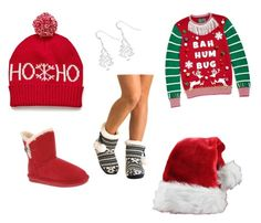 """""""First of December"""" by tania-tina-armasu ❤ liked on Polyvore featuring Ugly Christmas Sweater, Kevin Jewelers, Pilot and Bearpaw"""