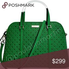 """NWT Kate Spade Newbury Caining Spoutgreen Satchel . 🚫 NO TRADES 🚫   NWT! Kate Spade Newbury Lane Caining Small Rachelle Spoutgreen Satchel   - Leather with 14-karat gold-plated hardware - Approx 13"""" W x 9"""" H x 4.5"""" D - Handles with 4"""" drop; optional adjustable strap that can be worn on shoulder or cross-body - Zip-top closure - Interior features zip, cellphone and multi-function pockets     If you want more photos, just ask me 📸  Smoke and pet free house 🏡 kate spade Bags Satchels"""