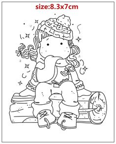 Doodle Coloring, Colouring Pages, Adult Coloring Pages, Coloring Pages For Kids, Coloring Books, Scrapbook Albums, Diy Scrapbook, Digital Stamps Free, Cheap Stamps
