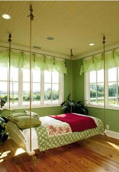 Neat #hanging bed