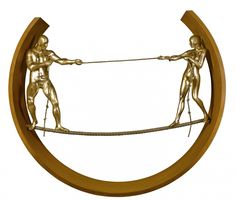 Tight rope II, bronze: Lorenzo Quinn