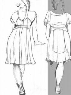 Коллекция Одежды, платья большие размеры 30 моделей+выкройки на каждую модель технологическая последовательность и 5-ть выкроек разного разм...