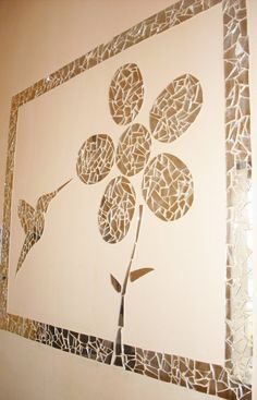 mosaico quadro vidro Mosaic Art, Mosaic Tiles, Stained Glass, Vintage World Maps, Wall Art, Cool Stuff, Crafts, Handmade, Diy