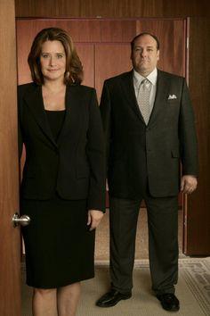 Lorraine Bracco & James Gandolfini in The Sopranos