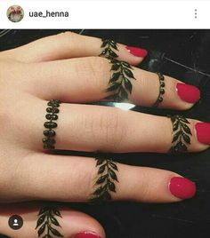 #Simple mehedi design #Finger henna mehendi