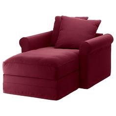 IKEA - GRÖNLID, Chaise cover, Ljungen dark red, LJUNGEN is a durable cover made of a polyester fabric with a soft, velvety surface and a slightly reflective luster. Sofa is sold separately. At Home Furniture Store, Living Room Furniture, Ikea Furniture, Ikea Bank, Deep Seat Cushions, Ikea Family, Sleeper Sectional, Ikea Home, Large Sofa
