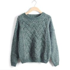 Winter Sweater Women 2017 Fashion Long Sleeve O-Neck Twist Chunky Cable Thick Knitted Loose Jumper Women Sweaters And Pullovers
