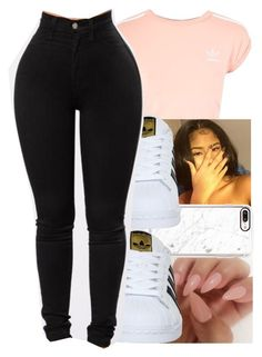 """""""Adidas Contest"""" by kickinback-andvibin ❤ liked on Polyvore featuring Topshop, Casetify and adidas"""