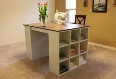 DIY Craft table but I    think could go in a kitchen too!