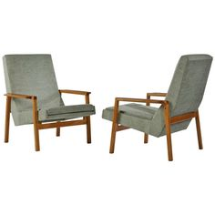 1950s Pair of 641 Armchairs by Pierre Guariche | From a unique collection of antique and modern armchairs at http://www.1stdibs.com/furniture/seating/armchairs/