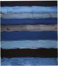 Sean Scully B. 1945 LANDLINE SEA signed, titled and dated 2015 on the reverse, oil on aluminum 85 by 75 in.