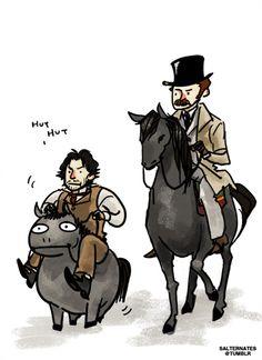 "More Sherlock Holmes pony awesomeness. By salternates. ""Slow and steady wins the race. Sherlock Bbc, Sherlock Holmes Robert Downey, Sherlock Fandom, Robert Downey Jr, Detective, Disneysea Tokyo, Holmes Movie, Mrs Hudson, Guy Ritchie"