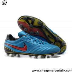 new style 5a769 334e6 Wholesale Discount Nike Superligera HG boot - Nike Tiempo Super Ligera K  Hard Ground in Blue Red Football Shoes Store