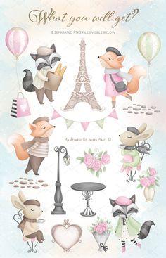 Paris Clipart, Welcome To Paris, Cute Animals Images, Baby Shower Clipart, Cute Baby Wallpaper, Clip Art, Paint And Sip, Love Illustration, Tour Eiffel