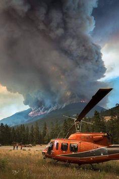 Forest fire near Pemberton, BC Firefighter Emt, Wildland Firefighter, Firefighter Apparel, Fire Dept, Fire Department, Into The West, Wild Fire, Forest Service, Fire Apparatus