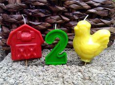 Farming Theme birthday candles 6.00 by BabyBearCandles on Etsy