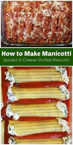 to Make Manicotti : Spinach and Cheese Stuffed Manicotti. This is the best How to Make Manicotti : Spinach and Cheese Stuffed Manicotti. This is the best . -How to Make Manicotti : Spinach and Cheese Stuffed Manicotti. This is the best . Spinach Manicotti, Cheese Manicotti, Stuffed Manicotti, Baked Manicotti, Chicken Manicotti, Gourmet Recipes, Pasta Recipes, Vegetarian Recipes, Gastronomia