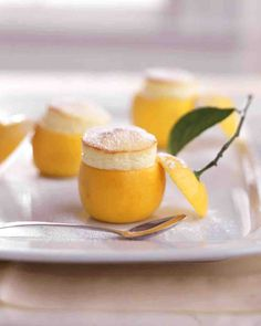 Little Lemon Souffles served in hollowed lemons!!! Delicious!!!