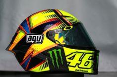 Rossi's helmet, Qatar MotoGP test, March 2015