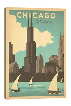 The Windy City Chicago Illinois Canvas Print on HauteLook