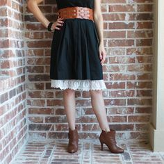 good idea. lace added to your slip bottom to make skirts longer and fancier