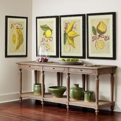 Long Wooden European Console | Console Tables & Buffets