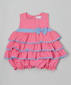 This Pink Ruffle Bubble Romper - Infant is perfect! #zulilyfinds