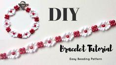 Very easy tutorial  Beaded bracelet pattern - YouTube