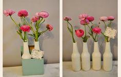 Passo a Passo de Lembrancinhas: DIY- Lembrancinha com garrafa de vidro para mesa
