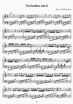 Partitura Piano   Noviembre sin ti - Reik   Reik es una banda de pop, nacida en Mexicali , Baja California , México . El grupo esta com... Violin Music, Music Stuff, Sheet Music, Baja California, Ideas, Easy Sheet Music, Flute, Paper, Ukulele Songs