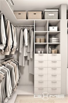 Closet Layout 319122323595419778 - Project of wardrobe Gdańsk on Behance Source by fidjiinstitut Small Walk In Wardrobe, Walk In Closet Design, Closet Designs, Small Walk In Closet Ideas, Small Walkin Closet, Master Closet Design, White Closet, Small Closets, Wardrobe Room