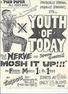 Youth of Today // $5.00!!!