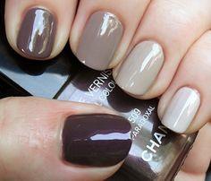 ombre, manicure, purple, grey
