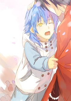 Aoba  Koujaku - DRAMAtical Murder, ITS COMING OUT AS AN ANIME! But I think the producers are taking the yaoi part out... well that sucks.