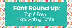 Font Round Up: Top 8