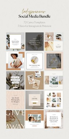 These social media templates are ready to be customized with your photography, brand colors and fonts! All of our templates in this bundle are designed in Canva, making it easy to update and customize for your needs. Instagram Feed Layout, Instagram Design, Instagram Story Template, Instagram Templates, Organizar Feed Instagram, Mise En Page Portfolio, Minimalist Layout, Design Blog, Design Layouts