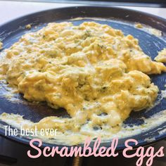 """Did you know you can make scrambled eggs in your Thermomix? Well you can - and it will give you the best ever scrambled eggs!! I've included the """"traditional"""" cooking method as well."""