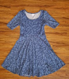 LuLaRoe 2XL Nicole Dress Seagulls Blue Textured Bird Print Unicorn #Lularoe #ShirtDressSundress #Casual