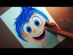 Speed Drawing: Joy/Alegria (Inside Out) | Diana Díaz - YouTube