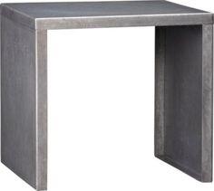 versatile - inside - outside - table - stool: skinny dip side table   CB2 #outdoor #furniture