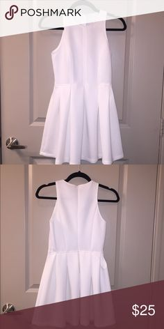 472a50cd3 White Scuba Fit and Flare Dress Incredibly flattering! The scuba material  smoothed any flaw and looks incredible! Dress was originally purchased from  Nasty ...