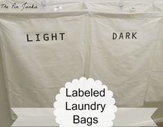 The Pin Junkie: DIY Labeled Laundry Bags - with avery transfer paper