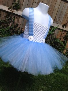 Dorothy Inspired Tutu Dress - Size Small