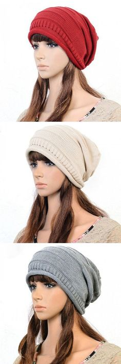 "Women Knitted Woolen Stripe Beanie Cap Casual Foldable Warm Head Hat ""Women Knitted Woolen Stripe Beanie Cap Casual Foldable Warm Head Hat is designer, sho Knit Or Crochet, Crochet Hats, Knit Fashion, Beanie Hats, Hats For Women, Hand Knitting, Knitted Hats, Winter Gear, View Photos"