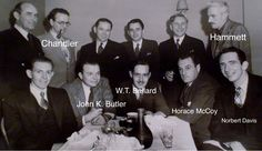 The BLACK MASK Boys! Some identified! Dashiell Hammett, The Long Goodbye, The Big Sleep, Raymond Chandler, Back Row, Black Mask, Show And Tell, In Hollywood, Good Movies