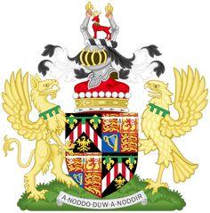 Coat of Arms of David Armstrong-Jones as Viscount Linley