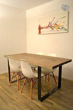 Table de cuisine en bois de grange plusieurs modeles mobilier de salle - Table salle a manger metal et bois ...