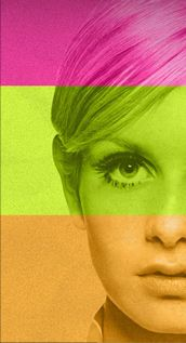 twiggy / rainbow /  mod / fashion photography / eye